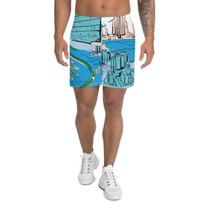 City And Sea Men's Athletic Long Shorts - desseni