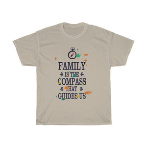 Family Is The Compass That Guides Us Unisex Heavy Cotton Tee - desseni