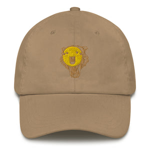 Wolf's yellow mask dad hat - desseni