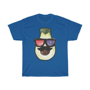 Pear Head With 3D Glasses Unisex Heavy Cotton Tee