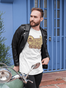 Born To Be Wild Vintage Motorcycle Unisex  T-Shirt - desseni