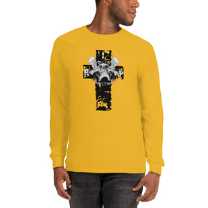 Cross And Skull Men's Long Sleeve Shirt - desseni