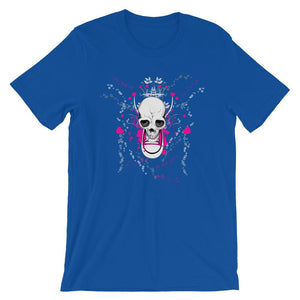 Skull With Chuck Sneaker Blue T-Shirt– Shop for Skull With Chuck Sneaker Unisex T-Shirts Online – Desseni