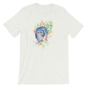 Colorful Chimp Unisex T-Shirt - desseni