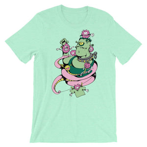 Green Monster And  Purple Snake T-Shirt– Shop for Green Monster And  Purple Snake Unisex T-Shirts Online – Desseni