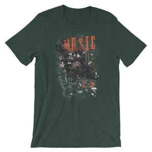 Music And Skull Unisex T-Shirt - desseni