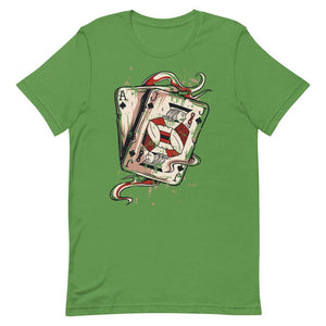 Ace And Joker Playing Cards Unisex T-Shirt - desseni