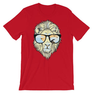 Lion With Glasses Unisex T-Shirt - desseni