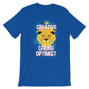 Leo Creative Caring Optimist Unisex T-Shirt - desseni