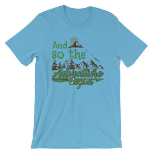 And So The Adventure Begins Unisex T-Shirt - desseni