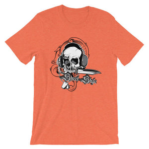 Skull With Headphone Unisex T-Shirt - desseni