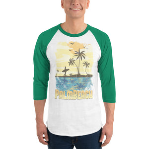 Palm beach men's 3/4 sleeve raglan shirt