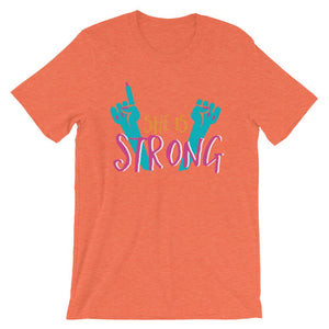 She Is Strong Orange T-Shirt– Shop for She Is Strong Unisex T-Shirts Online – Desseni