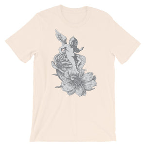 Baby Angel With Gas Mask Unisex T-Shirt - desseni
