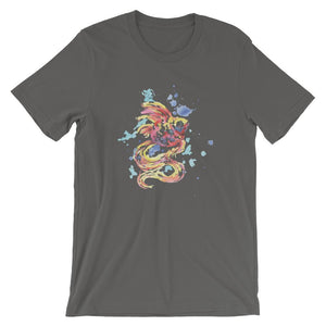 Colorful Fish Unisex T-Shirt - desseni