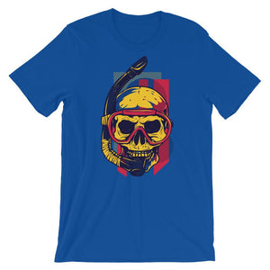 Skull With Snorkel Unisex T-Shirt - desseni