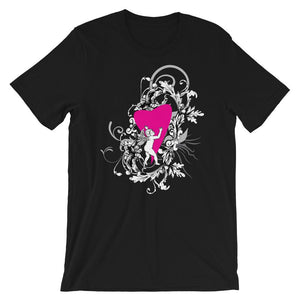 Baby Angel And Heart Unisex T-Shirt - desseni