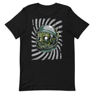 Green Monster with Helmet Unisex T-Shirt - desseni