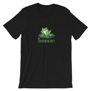 Be Green Frog Unisex Desseni T-Shirt