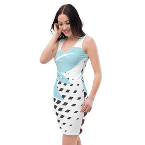 Blue Leaf Sublimation Cut & Sew Dress