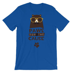 Paws For The Cause Unisex Desseni T-Shirt