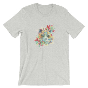 Colorful Bear Head Unisex T-Shirt - desseni