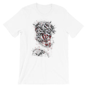Snake Haired Monster White T-Shirt– Shop for Snake Haired Monster Unisex T-Shirts Online – Desseni