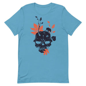 Black Skull With Bear Unisex T-Shirt - desseni