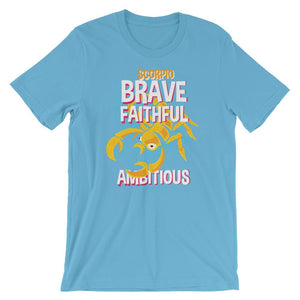 Scorpio Brave Faithful Ambitious T-Shirt– Shop for Scorpio Brave Faithful Ambitious Unisex T-Shirts Online – Desseni