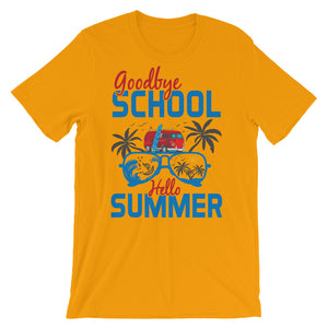 Goodby School Hello Summer  T-Shirt– Shop for Goodby School Hello Summer  Unisex T-Shirts Online – Desseni