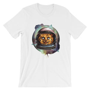 Space Cat Unisex T-Shirt - desseni