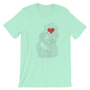 Red Heart In The Flowers  T-Shirt– Shop for Red Heart In The Flowers Unisex T-Shirts Online – Desseni