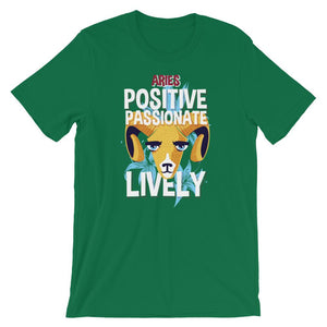 Aries Positive Passionate Lively T-Shirt– Shop for Aries Positive Passionate Lively Unisex T-Shirts Online – Desseni