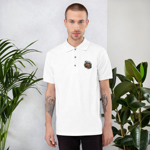 Space Cat Men's Embroidered Polo Shirt - desseni