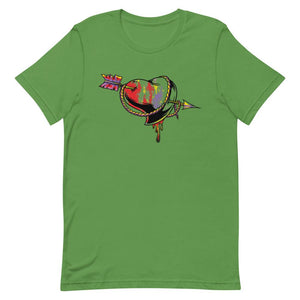 Heart With Arrow Unisex T-Shirt - desseni