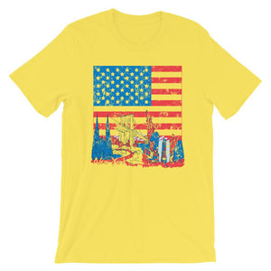 New York In American Flag T-Shirt– Shop for New York In American Flag Unisex T-Shirts Online – Desseni