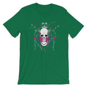 Skull With Chuck Sneaker Green T-Shirt– Shop for Skull With Chuck Sneaker Unisex T-Shirts Online – Desseni