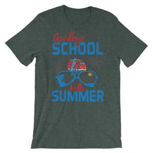Goodbye School Hello Summer Unisex T-Shirt - desseni