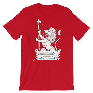 white lion red t shirt