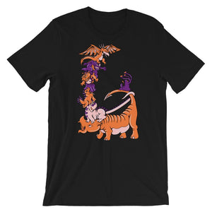 Dinosaurs and Dragons Unisex T-Shirt - desseni