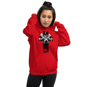 Cross with Skull Women's Hoodie