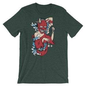 Red Mask Unisex T-Shirt - desseni