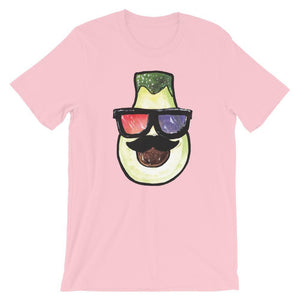 Pear Head With 3D Glasses Unisex T-Shirt - desseni