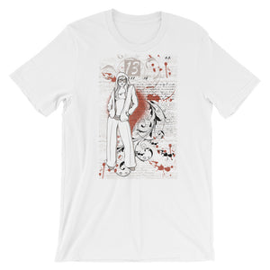 Women With Flower Unisex T-Shirt - desseni