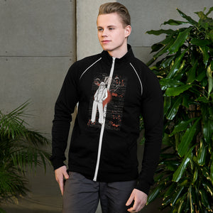 Women with Flower Piped Fleece Men's Jacket