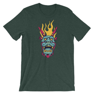 Dragon Face Unisex T-Shirt - desseni