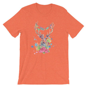 Colorful Deer Unisex T-Shirt - desseni