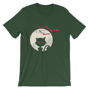 Cat And Bat Unisex T-Shirt - desseni