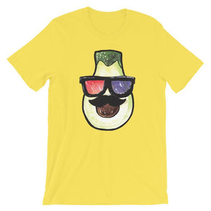Pear Head With 3D Glasses Unisex Desseni T-Shirt