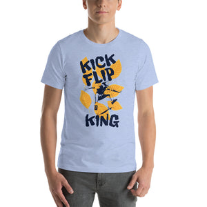 Kick Flip King Short-Sleeve Unisex T-Shirt - desseni